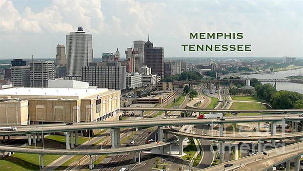Memphis Skyline View from Pyramid by Karen Francis