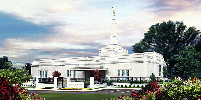 Memphis Tennessee Temple by Brent Borup