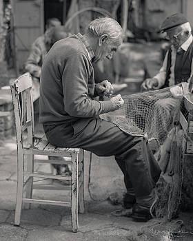 Men Mending Nets, Anadolu Kavagi, Turkey - J00703-152,S by Wally Hampton