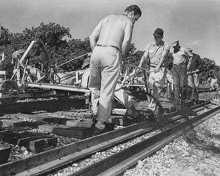 Chicago and North Western Historical Society - Gandy Dancers Work on Rail