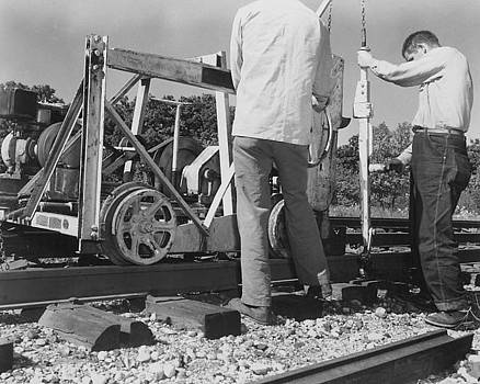 Chicago and North Western Historical Society - Men Work on Track