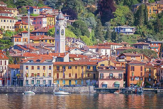 Menaggio Lake Como Italy Painterly by Joan Carroll