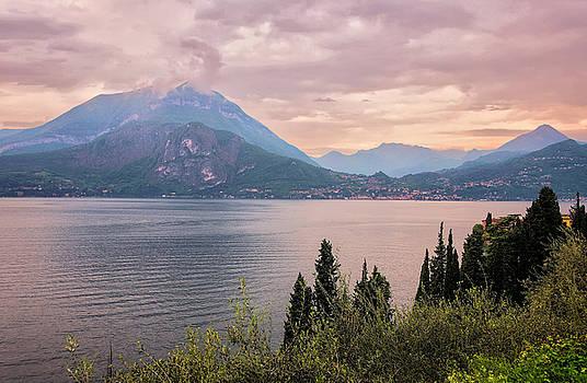 Menaggio on Lake Como Italy by Joan Carroll