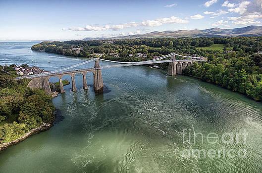 Menai bridge 2 by Steev Stamford