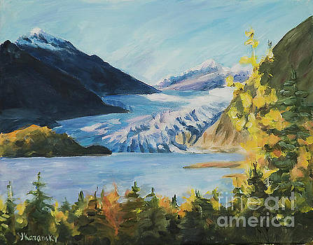 Mendenhall Glacier Juneau Alaska by Yulia Kazansky