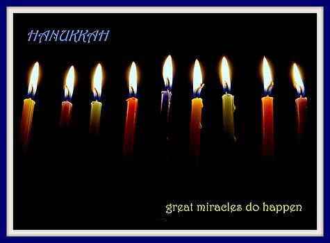 Hanukkah Candles by Lori Pessin Lafargue
