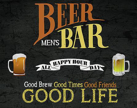 Men's Beer Bar by Marilu Windvand