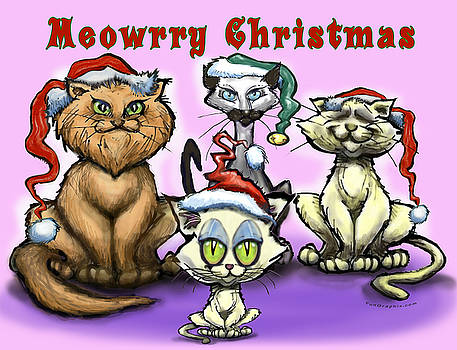Meowrry Christmas by Kevin Middleton