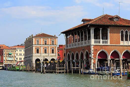 Mercato di Rialto in Venice Italy by Louise Heusinkveld