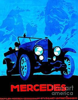 Peter Gumaer Ogden - Mercedes 1914 28 95 by Ludwig Hohlwein