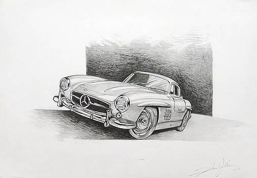 Mercedes 300 Sl Gullwing by Federico  De muro