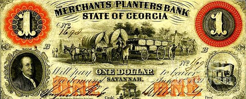 Peter Ogden - Merchants Planters Bank State of Georgia with Cotton Bales 1859