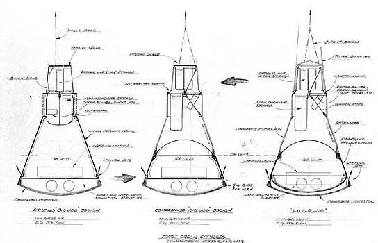 R Muirhead Art - Mercury capsule sketch