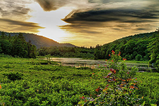 Meredith Pond Sunset by Betty Pauwels