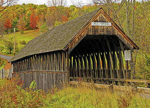 Meriden Covered Bridge by Liz Mackney