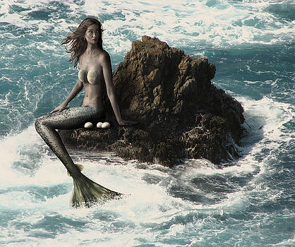 Mermaid and Her Pearls by Solomon Barroa