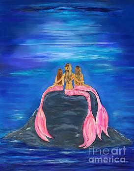 Mermaid Beauty On The Rocks by Leslie Allen