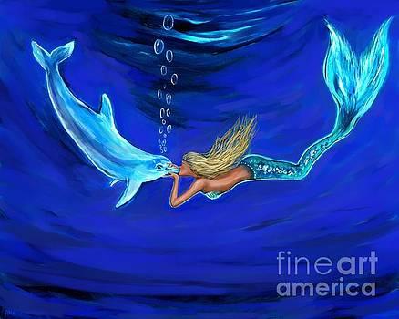 Mermaid Dolphin Loves by Leslie Allen