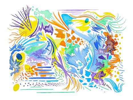 Mermaid Dream Abstract by Jennifer Ahern