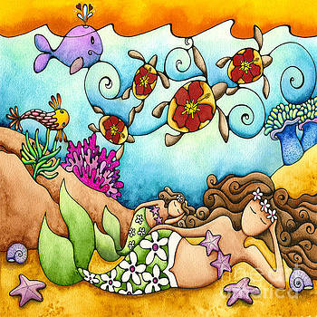 Mermaid Dreams Mother and Child by Holly Kitaura