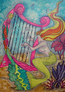 Mermaid Harpist by Mickie Boothroyd