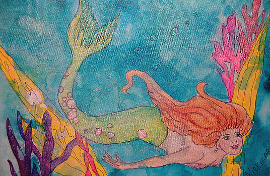 Mermaid Swimming by Mickie Boothroyd