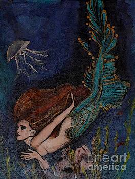 Mermaid Under The Sea by Valarie Pacheco