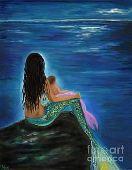 Mermaids Baby Girl by Leslie Allen