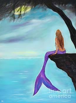Mermaids Beautiful Oasis by Leslie Allen