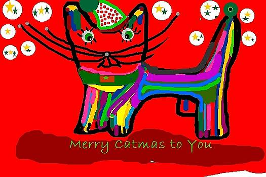 Merry Catmas to you by Dawna Raven Sky