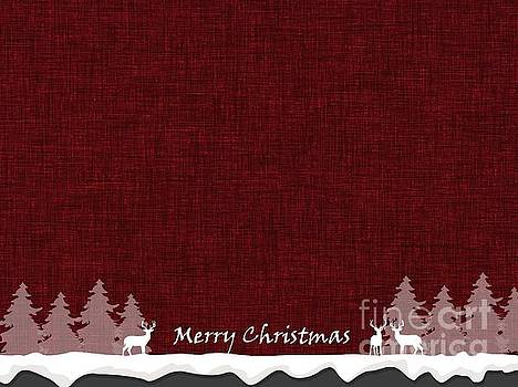 Merry Christmas Greeting Card 2 by Erika H