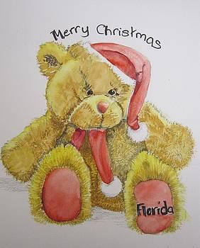 Merry Christmas Teddy  by Teresa Smith