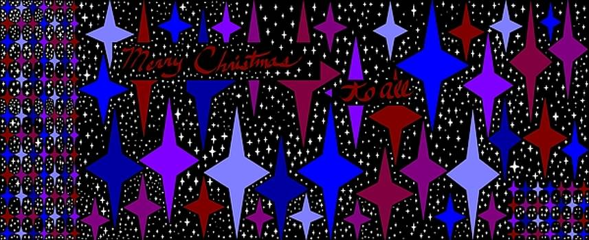 Merry Christmas To All, Starry, Starry Night by Linda Velasquez