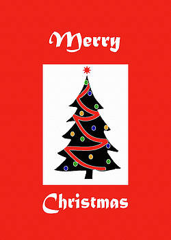 Merry Christmas Tree-Greeting Card by Kat Solinsky