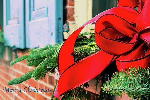 Sandy Moulder - Merry Christmas Window Bow