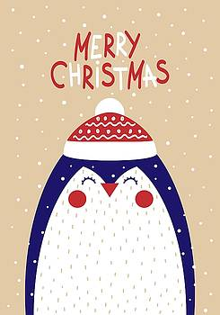 Merry Christmas With Penguin by Christopher Meade