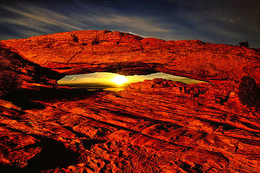 Mesa Arch Moonshine by Greg Norrell