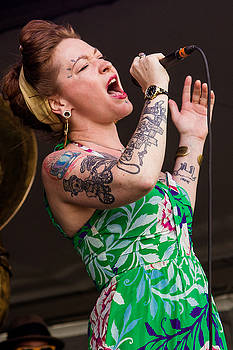 Meschiya Lake and the Little Big Horns at the 2014 Jazz Fest by Terry Finegan