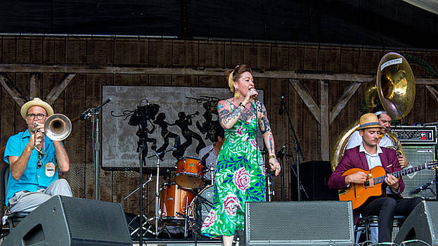 Meschiya Lake at the 2014 New Orleans Jazz Fest by Terry Finegan