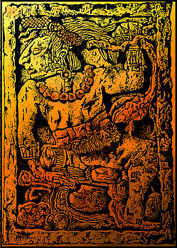 Larry Butterworth - Mesoamerican  Mayan Figure Eight Century Mexico