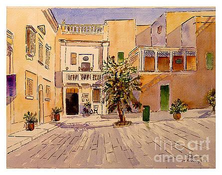Mesquita Square Mdina by Godwin Cassar