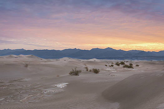 Mesquite Flat Sand Dunes at Sunrise by M C Hood