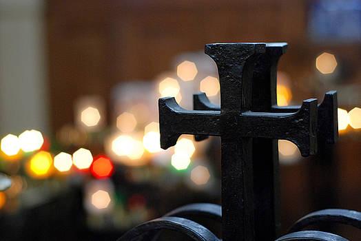 Metal Cross by Albert Lusby