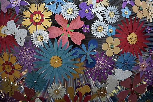 Metal Flowers by Linda Freebury