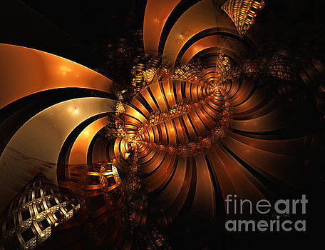 Shari Nees - Metal Ribbons Golden Flow