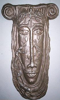 Metal Sculpture  Pandora by Maria Alquilar