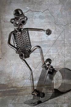 Metal Skateboarder by John Knapko