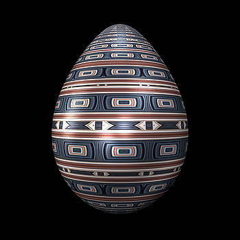 Hakon Soreide - Metallic Foil Pattern Egg