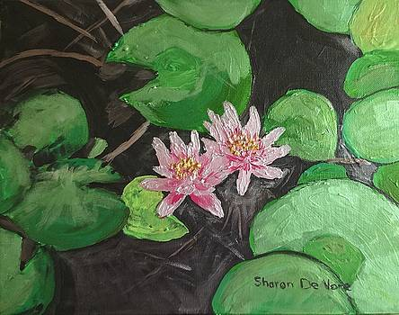 Metallic Waterlilies by Sharon De Vore