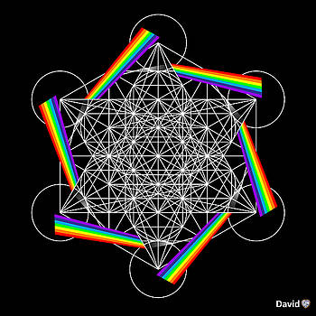 Metatron's Cube 5D by David Diamondheart